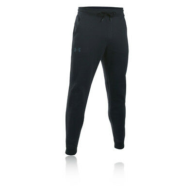 Under Armour Storm Rival Cotton Mens Black Running Long Joggers Bottoms