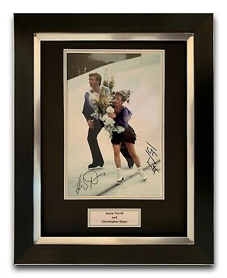 Jayne Torvill And Christopher Dean Hand Signed Framed Photo Display.