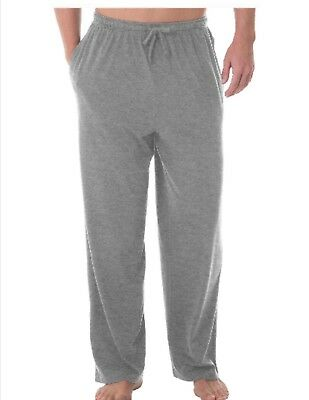 Fruit of the Loom Mens Pajama Sleep Lounge Cotton Knit Pants Large 36-38 Gray