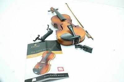 Mendini Full Size 4/4 Wood Violin Tuner Lesson Book Shoulder Rest SEE NOTES