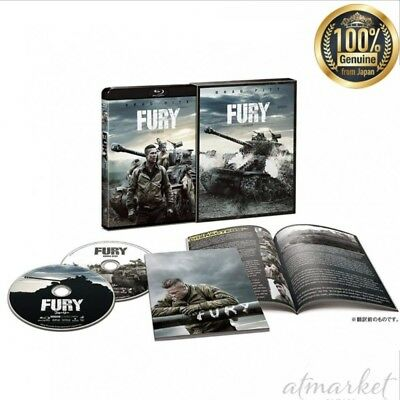 Fury Luxe Edition (First Presse Édition Limitée) Blu-Ray Véritable From Japon