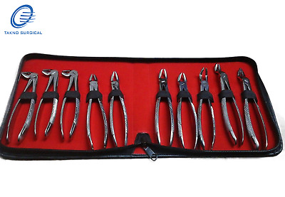 Dental Tooth Extracting Forceps Set Dental Extraction Forceps 9 pcs