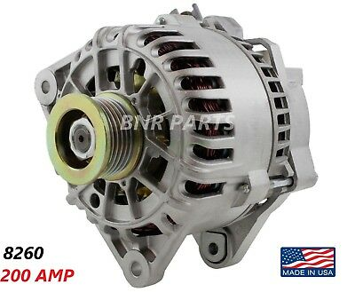 200 AMP 8260 Alternator Ford Mazda High Output Performance HD NEW Performance