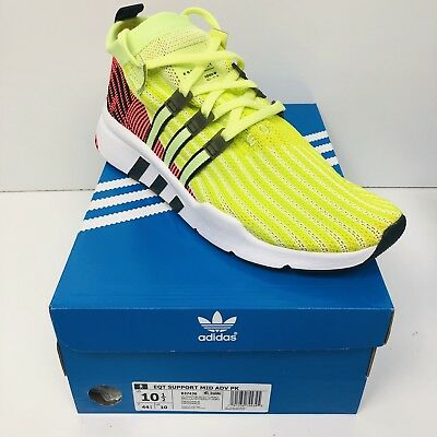 the best attitude e25f0 c107a NEW Adidas EQT Support MID ADV PK Primeknit Mens Size 10.5 Shoes White  B37436