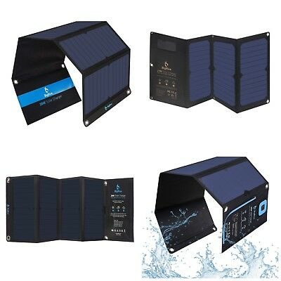 Portable Solar Panel Power Battery Charger Backup for Cell Phone iPhone Outdoor