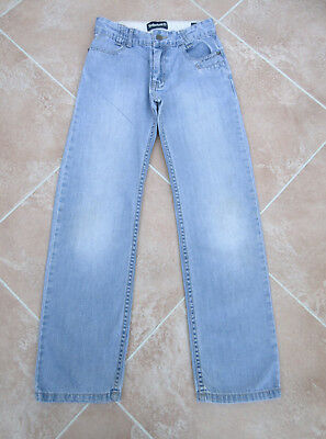 Timberland - Boys Faded Blue Denim Wide Leg Jeans - size 10 yrs