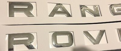 2X Chrome Gloss Range Rover Lettering Sport P38 L322 Badge Boot Top Quality