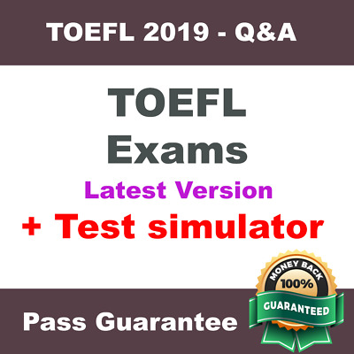 TOEFL All TOEFL Exams Essay Questions Exam Dump PDF Q&A + VCE Simulator for 2019
