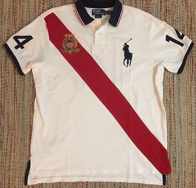 9db36fb77a9 Vintage Polo Ralph Lauren Big Pony #14 Crest Rugby Polo Shirt XL Color Block