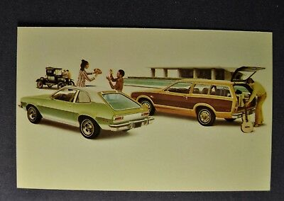 1974 Ford Pinto Runabout, Squire Station Wagon Postcard Brochure Excellent Orig