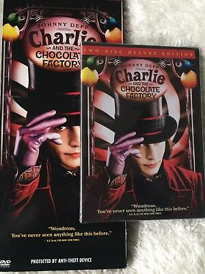 Charlie & the Chocolate Factory DVD Widescreen 2-disc Deluxe Edition Johnny Depp