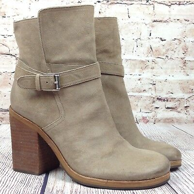 5c9c3d924cd7 Sam Edelman Perry Women s Size 10 Boots Wrap Belted Booties Ankle Beige  Shoes