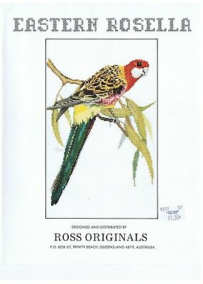 Eastern Rosella Cross Stitch Pattern - by Graeme Ross