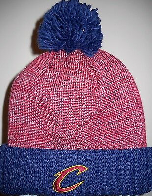 1fb7681fc19 shop new eracleveland cavaliers nba knit beanie 844c8 aac0a  uk cleveland  cavaliers adult knit hat cap w pom ball embroidered c logo on cuff afa6d