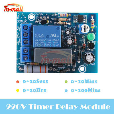 AC 220V Timing Turn On/Off Switch Board Timer Delay Relay Module Adjustable