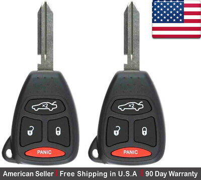 2x New Replacement Keyless Entry Remote Key Fob For Chrysler Dodge Jeep KPT3760