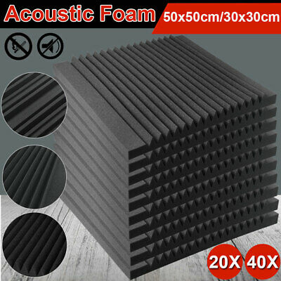 Studio Acoustic Foam Home Sound Stop Absorption Treatment Proofing Square Panel