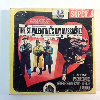 "Vintage 8mm Super 8 Colour Sound Movie ""St Valentine's Day Massacre"""