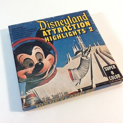 Vintage 8mm Super 8 Colour Movie Disneyland Highlights 2