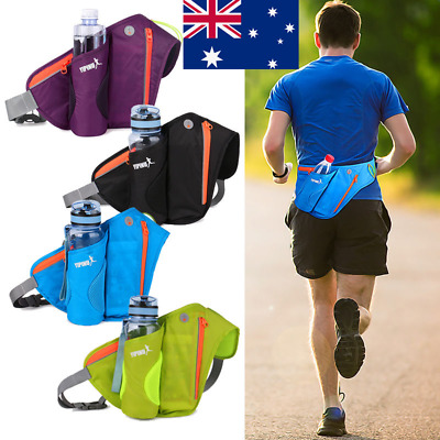 AU! Sport Water Bottle Holder Belt Bag Running Jogging Cycling Waist Pack Pouch