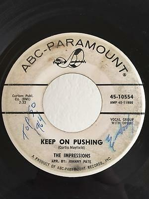 Northern Soul PROMO 45 The Impressions Keep On Pushing on ABC HEAR