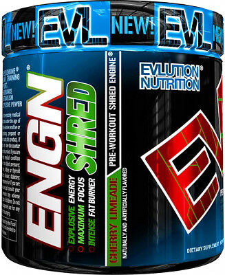 Evlution Nutrition ENGN Sh Pre Workout Thermonic Fat Burner Powder, Energy, 30