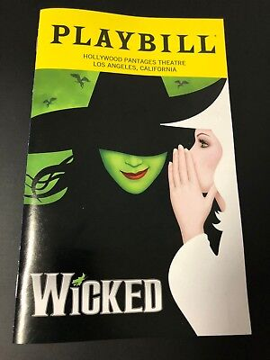 Wicked National Tour Playbill (January 2019) with Chistery insert