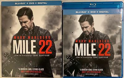 Mile 22 Blu Ray Dvd 2 Disc Set + Slipcover Sleeve Free World Wide Shipping Mark