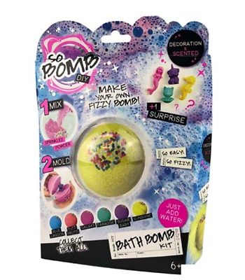 SO BOMB DIY Bath Bomb Kit Assorted Pack Fizzy Scented Kit Kids Childrens Fun