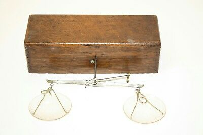 ANTIQUE 1800~1900s APOTHECARY~OPIUM, COIN, BULLION WEIGH SCALE~ORIG BOX