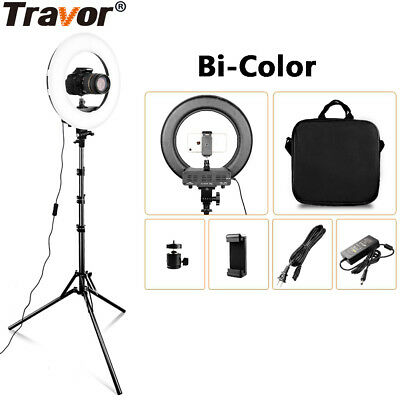 336pcs LED Ring Light Dimmable 5500K Lighting Video Continuous Light Stand Kit