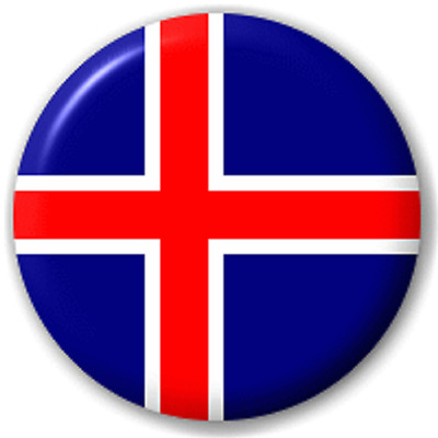 Iceland Flag – 25 Mm Pin Button Badge