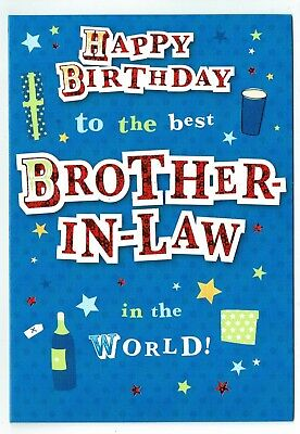 Brother In Law Birthday Card With Funky Design