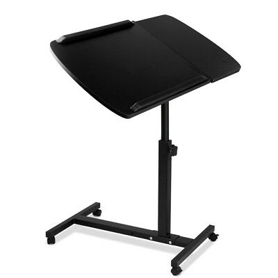 Rotating Mobile Laptop Desk Adjustable Portable Computer PC Stand Bedside Table