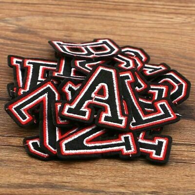 Letter Patch Patches Iron on / Sew on Retro Alphabet Embroidery Clothes