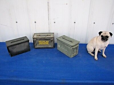 3 Pack 50 Cal Ammo Can Box Army Military M2A1 Metal Storage