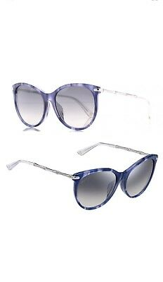 5efcbbd70d04 New $440 GUCCI Italy, Cat Eye,Bamboo,Blue/ Purple/Silver SUNGLASSES