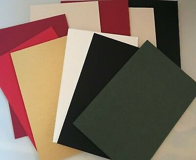 """PACK 10 MOUNT BOARD CARD OFFCUTS 6 X 4 6"""" x 4"""" ASSORTED MOUNTBOARD COLOURS"""