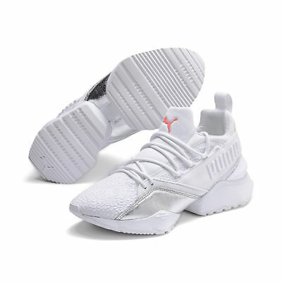 07ef741b1cd8a9 PUMA MUSE MAIA BIO HACKING BLANC Baskets Femme White Silver Sneakers  369197-01