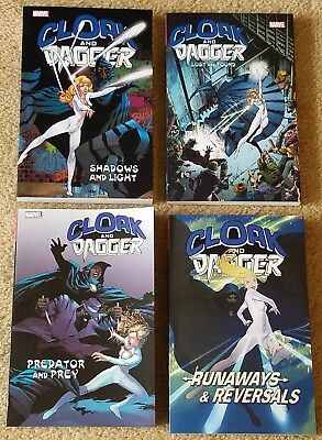 CLOAK AND DAGGER TPB SET Volumes 1 2 3 4 Marvel Shadows Light Predator Runaways