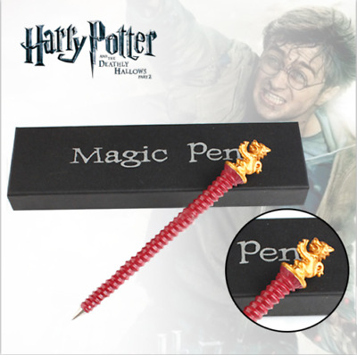 """7"""" Harry Potter Hogwarts House Gryffindor Plated Red Pen Gifts Collect US Ship"""