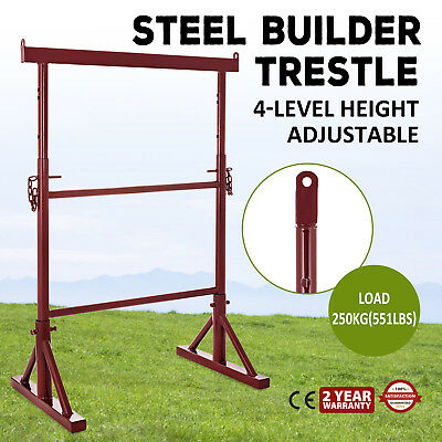 4 Level Height Adjustable Steel Builder Trestle Powder-Coated Anti-lost