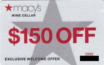 $150 Off Macy's Wine Cellar Giftcard