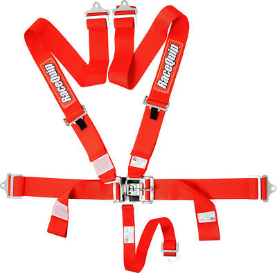 Racequip 711011 5 Point Red Seat Belts IMCA Drag Circle Track