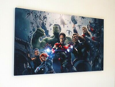 Marvel Avengers Canvas Print Wall Art Picture  18 X 32 Inch