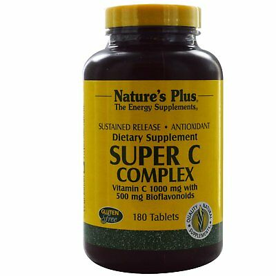 Super C Complex, Vitamin C 1000 mg with 500 mg Bioflavonoids - Nature's Plus