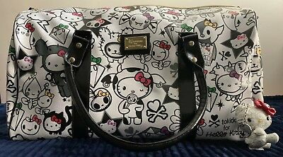 0d0735fe1232 NWT Tokidoki Hello Kitty 35th Anniversary Boston Duffle Large Bag Travel  Sanrio