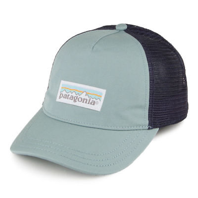 4dc9b5e9ea9 PATAGONIA Women s Pastel P-6 Label Layback Cadet Blue Trucker Hat Snapback