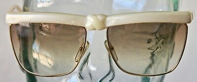 917096a1df0 Laura Biagiotti P 35 s Sunglasses Frames Cream Knotted Gold Oversized  Vintage