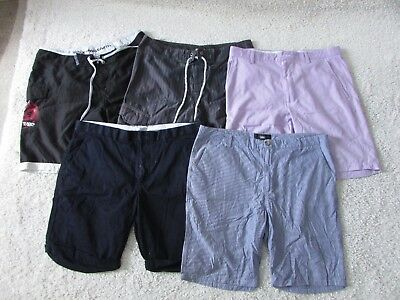 Bulk Lot Mens Shorts All Size W36 - Five Pairs